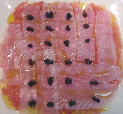 carpaccio de bacalla